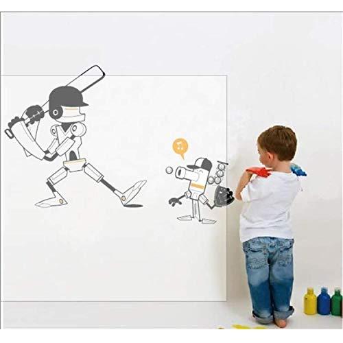ylckady Weihnachtsgeschenkcartoon Roboter Spielen Baseball Wandaufkleber Kinderzimmer Dekor Junge Zimmer Dekoration 84 * 46 cm (Baseball Zimmer Dekor)