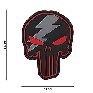 Patch 3D PVC Punisher Éclaire Noir et Rouge / Cosplay / Airsoft / Camouflage …