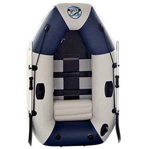 Challenger kayak gonfiabile battello pneumatico confortevole kayak per il tempo libero barca pieghevole 1 persona gommone sport marino pesca avventura pvc spesso plastica 175 * 115 * 31cm blu