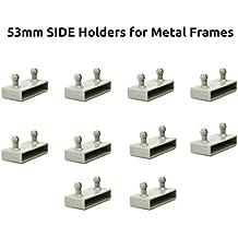 The Bed Slats Company 53 mm Lateral Marcos de Metal Tapas de Soportes para Listones de