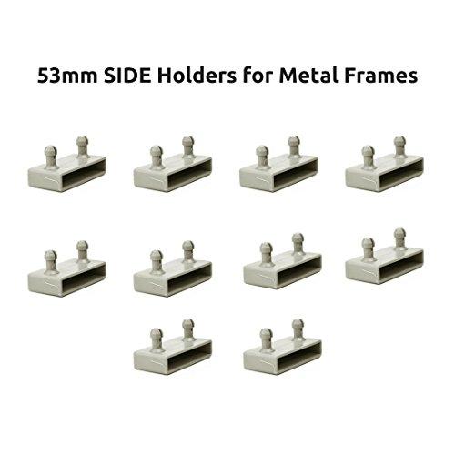The Bed Slats Company 53mm Seite Bett federleistenhalter Kappen für Metall Frames–2Zinken (10Stück)