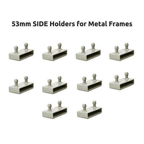 The Bed Slats Company 53mm Lateral Marcos de Metal Tapas de Soportes para Listones de Cama–2Puntas (Pack de 10)