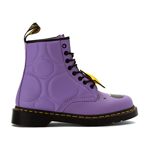 Dr.Martens Womens 1460 Lumpy Space Princess 8 Eyelet Leather Boots Viola