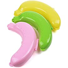 Tootpado Plastic Banana Food Storage Container, Set of 3, Multicolour