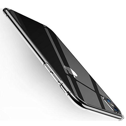Humixx iPhone X Hülle Hochwertigem Stoßfest, Anti-Fingerabdruck, Anti-Scratch FederLeicht Hülle Bumper Cover Schutz Tasche Schale für iPhone X(Skin Series)-Weich Klar