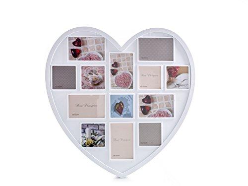Evviva 3636 portafoto cuore, bianco, 59x59x2.3 cm,