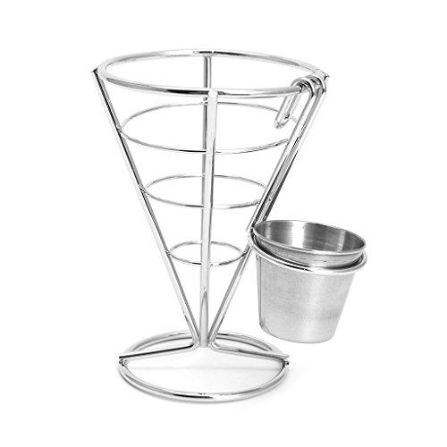 SimpleLife 1 stück Pommes Frites Chip Kegel Halter Metall Eisendraht Schüssel Küche Fry Essen Stehen