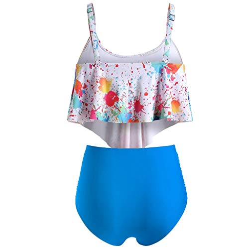 LSAltd Frauen Sommer Sexy Bunte Tie-Dye Push-Up Gepolsterte Plus Size Bikini Set Hohe Taille Badeanzug Beachwear