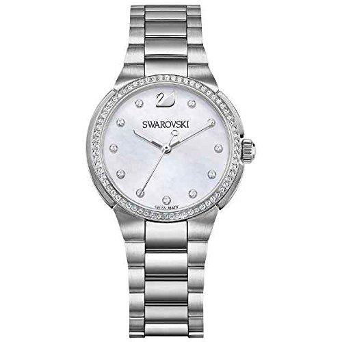 Swarovski citi mini orologio al quarzo, da donna, con display analogico argento e metallo braccialetto 5221179