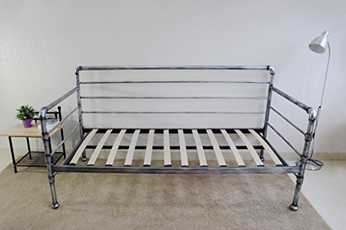 Banbury Industrial Scaffold Pipe Style Metal Day Bed Frame Single