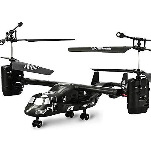Pinjeer RC Helicóptero de Carga U.S Airforce Osprey V22 2.4G Super Robustez Infrarrojo I/R Plano de Control Remoto Educativo Juguetes Electrónicos Regalos para Niños 8+ (tamaño : M)
