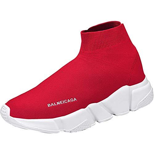 Otfi® Scarpe da Corsa da Uomo Fashion da Uomo Scarpe da Corsa da Donna da Uomo con Air Pad Sneakers Scarpe da Tennis con Sottopiede Scarpe Air Lightweight Rosso Nero Bianco 36 EU - 47 EU