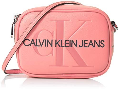 Tasche Monogram (Calvin Klein Damen Sculpted Monogram Camera Bag Laptop Tasche, (Pop Pink), 8x12x17 cm)