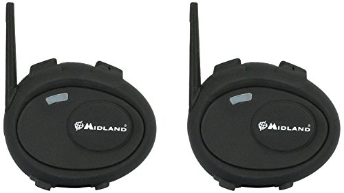 Midland C929.01 BT City Twin Bluetooth Headset für Motorradhelme, Doppelset