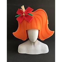 Peluca años 60 naranja