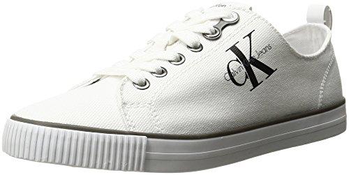Calvin Klein Jeans Dora Canvas, Scarpe da Ginnastica Basse Donna, Bianco (White), 39 EU