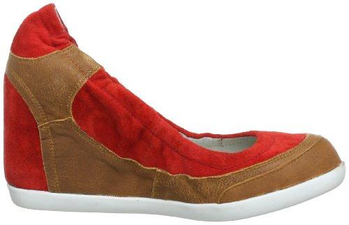 MANAS 131D2410Ek, Escarpins femme - Multicolore Multicolore (Cognac+Rosso)
