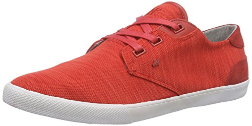 Boxfresh Stern Flk Mesh/Sde, Baskets Basses homme Rouge - Rot (BOLD RED/GREY)