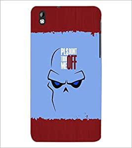 PrintDhaba Quote D-5106 Back Case Cover for HTC DESIRE 816 (Multi-Coloured)