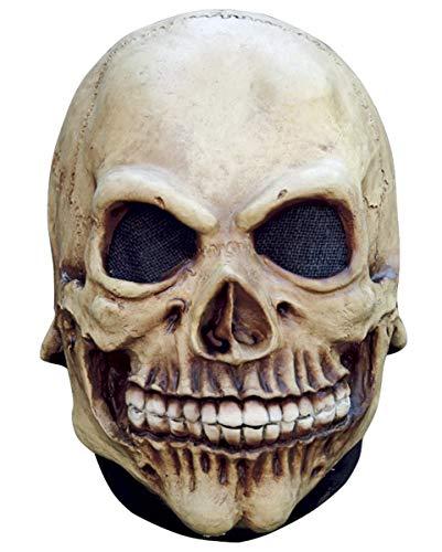 Horror-Shop Totenschädel Maske für Kinder als Halloween Maske - Vollkopfmaske / Latex (Latex Halloween Bis)