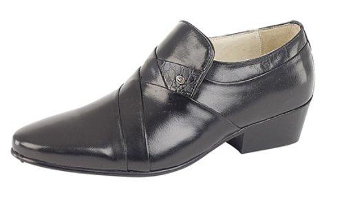 Chaussures pour homme de couleur noire reptilleder kubanischen au niveau du talon Schwarze