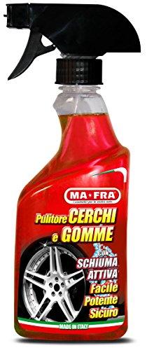 Ma-fra mafra 8005553013424 pulitore 500ml, pulisce e sgrassa passaruota, formula bi-uso: senza pulire i cerchi, con schiuma per le gomme