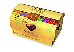 Rausch Chocolat des Plantations Plantagenwelt, grande Malle au Trésor, 8 Variétés, 150 Minis Assortis, 1000g