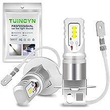 TUINCYN - Bombilla superluminosa LED H3 SMD 80W CSP Chips de 1600 lúmenes, universalmente utilizada en faros antiniebla y luces de circulación diurna de ...