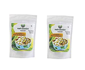 Nutritatva Crunchy Nuts & Nuggets - A Roasted & Salted Superfood Nutrition Mix Snack - Pack of 2 (100 Grams Each)