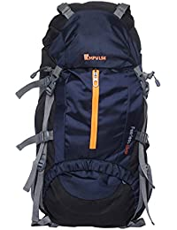 Impulse Climate Proof Mountain Rucksack/Hiking/Trekking/Camping Bag/Backpack 65 ltrs Rucksack with Rain Cover Inverse U