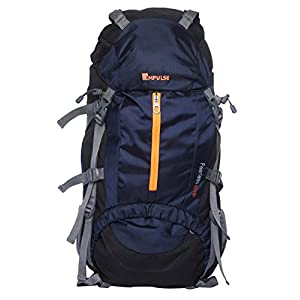 Impulse Inverse U 65 Litres Waterproof Rucksack Backpack for Travelling Trekking Hiking with Free Raincover