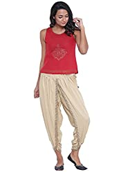 9rasa Women Cotton Viscose Hand Block Printed Dhoti Set