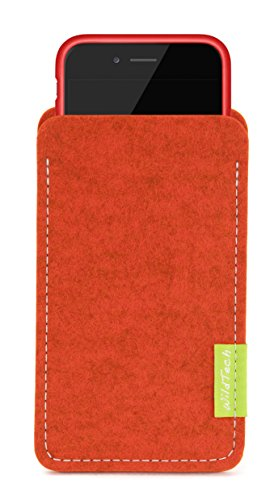 WildTech Sleeve für Apple iPhone SE / iPhone 5S / iPhone 5 mit Apple Leder Case / Silikon Case - 17 Farben (Handmade in Germany) - Anthrazit Rost