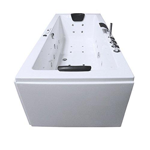 Whirlpool Badewanne Rechteck - Rügen Premium 2 Personen Whirlwanne Indoor NEU (190x90x62 cm)