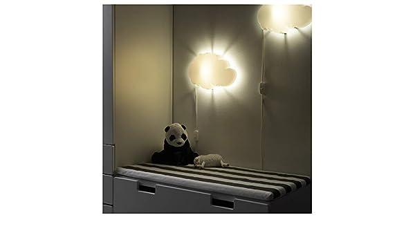 Ikea drÖmsyn lampada cameretta bambino da parete bianco nuvola