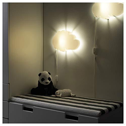 IKEA DRÖMSYN Lampada cameretta bambino da parete, bianco nuvola