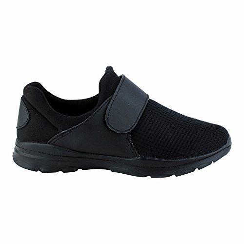 Damen Sportschuhe Sneaker Lauf Freizeit Fitness Runners Low Schuhe Schwarz