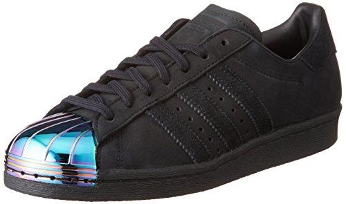 Adidas Sneaker Women SUPERSTAR 80S METAL TOE W S76710 Schwarz, Schuhgröße:37 1/3