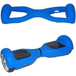 icase4u® 6.5 Pulgadas Protector Cubierta Funda de Silicona para Hoverboard Smart Scooter Balance Patinete Electrico Dos Ruedas (Azul)