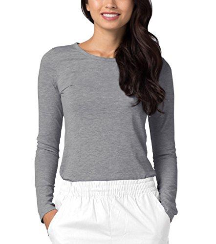 Adar Uniforms Uniformes - Blouse Médicale de Dessous Manches Longues Tee  pour Femmes - 2900 Couleur: DMG | Taille: S