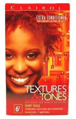 Clairol Coloration hydratante permanente Textures & Tones - Sans ammoniaque - Couleur 6R - Ruby Rage (Rouge rubis)
