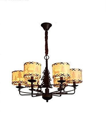 Save more energy chandelier --- American Iron Linen Shade Simple Bedroom Chandelier --- Fashion LOFT -1 light chandelier
