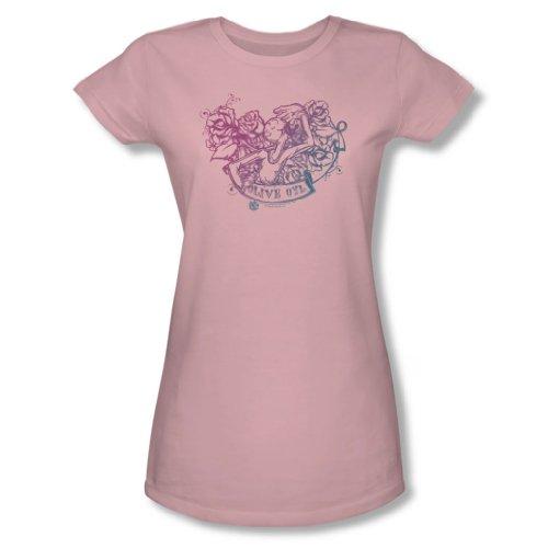 (Popeye - Frauen Olive Oyl Tattoo T-Shirt in rosa, XX-Large, Pink)