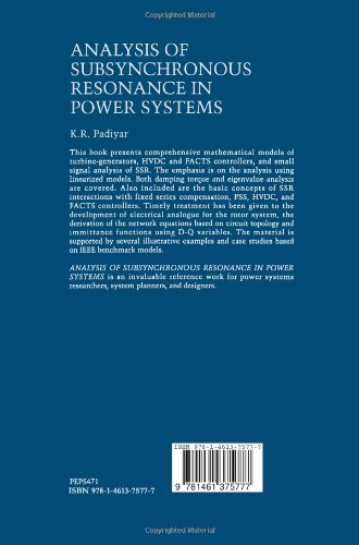 Analysis of Subsynchronous Resonance in Power Systems (Power Electronics and Power Systems)