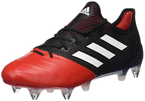 adidas Ace 17.1 Leather Sg, Scarpe da Calcio Uomo Nero (Core Black/footwear White/red)