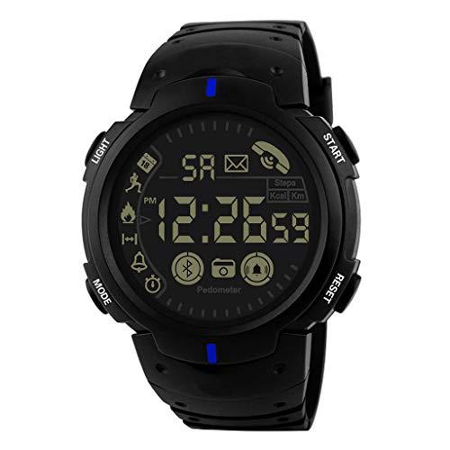 cb6154148319 Relojes de Pulsera para Hombres Reloj Inteligente Watch 33 Meses Tiempo en  Espera 24 Horas Monitoreo en Todo Tiempo Honestyi