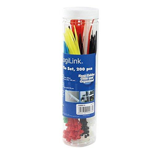 LogiLink KAB0018 - Sujeción para cables (200