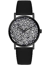 s.Oliver Damen Analog Quarz Uhr mit Leder Armband SO-3822-LQ