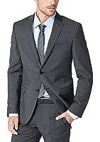 s.Oliver BLACK LABEL Herren Anzugjacke mit Struktur, Einfarbig