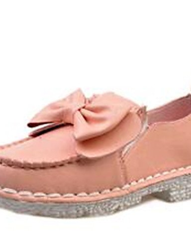 ZQ Scarpe Donna-Mocassini-Tempo libero / Casual-Comoda-Piatto-Finta pelle-Rosa / Bianco / Grigio , white-us7.5 / eu38 / uk5.5 / cn38 , white-us7.5 / eu38 / uk5.5 / cn38 pink-us6 / eu36 / uk4 / cn36